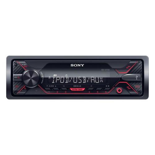 Autorádio SONY, 1DIN s USB, červené DSXA210UI.EUR