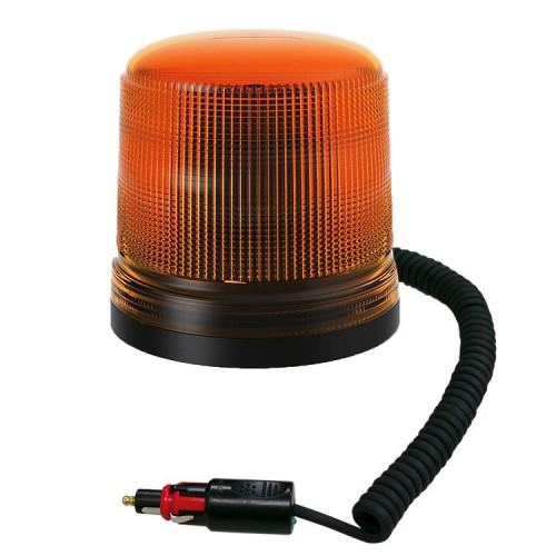 Oranžový maják s úchytem na magnet,15 LED  B18-MAG-A
