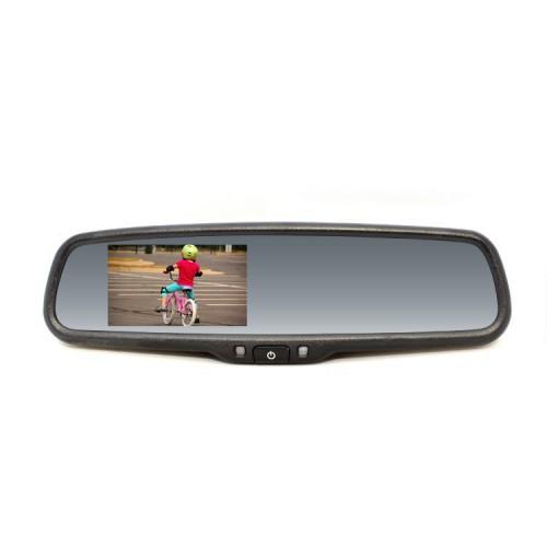 Zpětné zrcátko s LCD displejem a paticí na sklo, univerzální RM LCD UNI