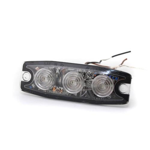 Poziční výstražné světlo, 3 LED, 12-24V, červené LP3-R