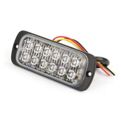 Poziční výstražné světlo, 6 LED, 12-24V, červené M62-R
