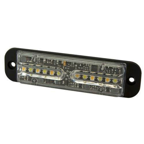 Poziční výstražné světlo, 12LED, 12-24V, R65, oranžové / modré ED3702-AB