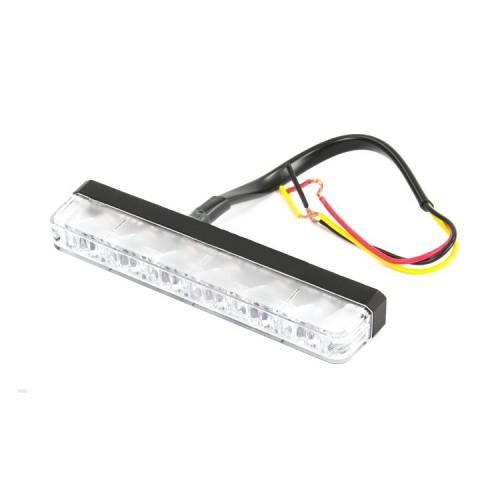 Poziční výstražné světlo, 6 LED, 12-24V, R65, modré ES6-B