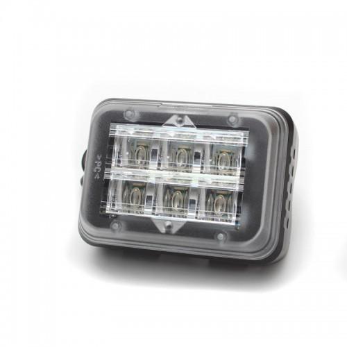 Poziční výstražné světlo s instalací na držák, 6LED, 12/24V, R65, modré 497044B