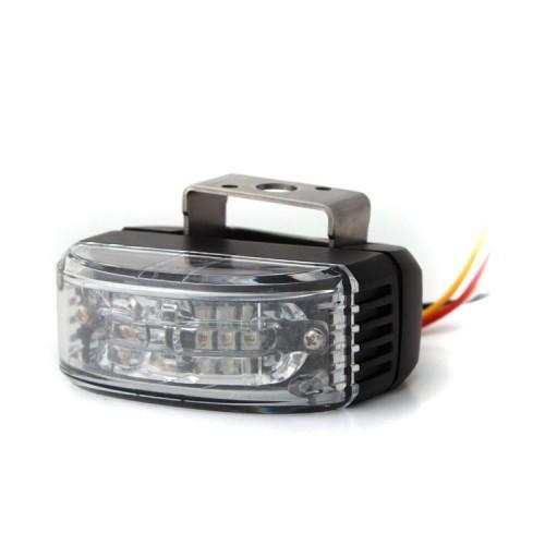 Výstražné světlo do zpětného zrcadla, 6 LED, červené AL6-MIR-R