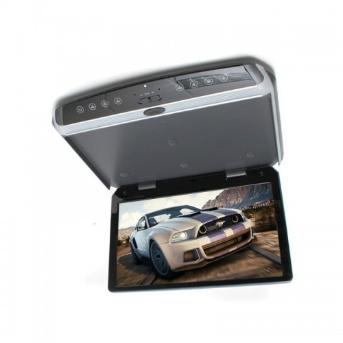 """Multimediální stropní monitor, slim 15.6 """"USB / HDMI, šedý MR1560G"""