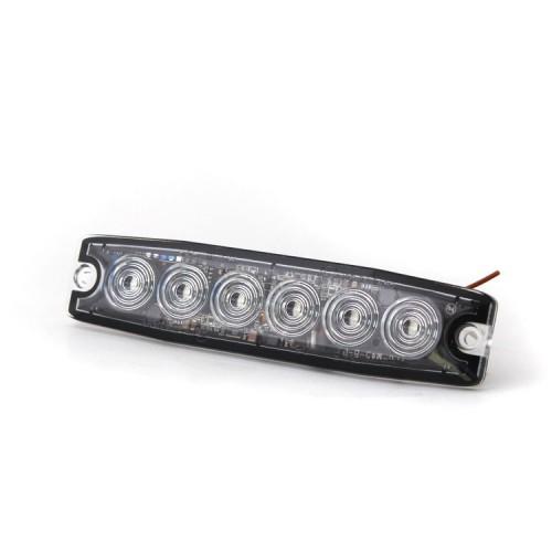 Poziční výstražné světlo, 6 LED, 12-24V, červené LP6-R