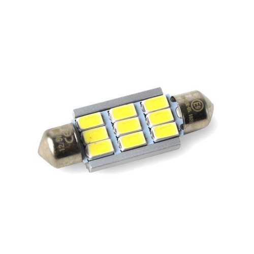 LED žárovka Sufit, 39mm, 380lm, canbus, bílá, 2ks LED 39SUFIT 9-380