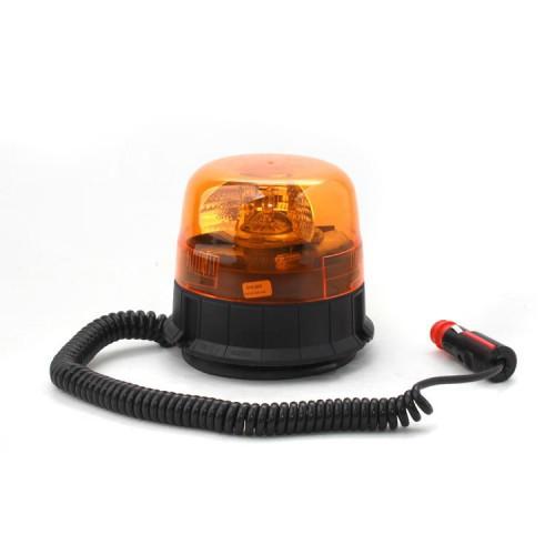 Výstražný rotační maják, magnetický úchyt, R65, 12V, oranžový 310-A