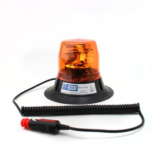 Rotační výstražný maják, magnetický úchyt, R65, oranžový, bez žárovky 400.000