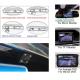 Parkovací kamera s 4 LED podsvitem do osvětlení spz pro vozy Škoda Octavia II